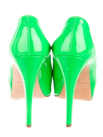 Neon Patent Leather Pumps