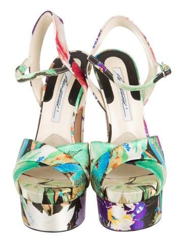Floral Platform Sandals