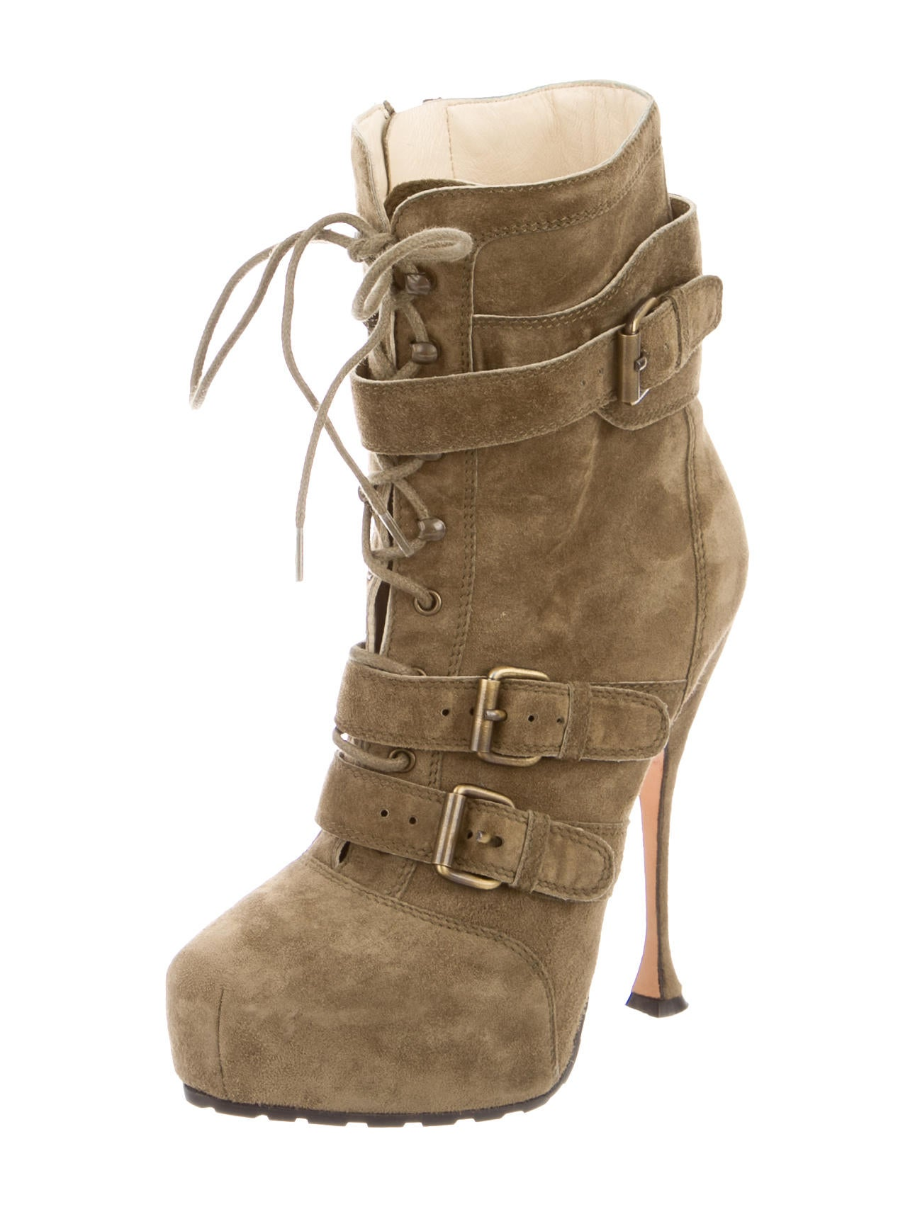 brian atwood suede lace up ankle boots shoes bri22913