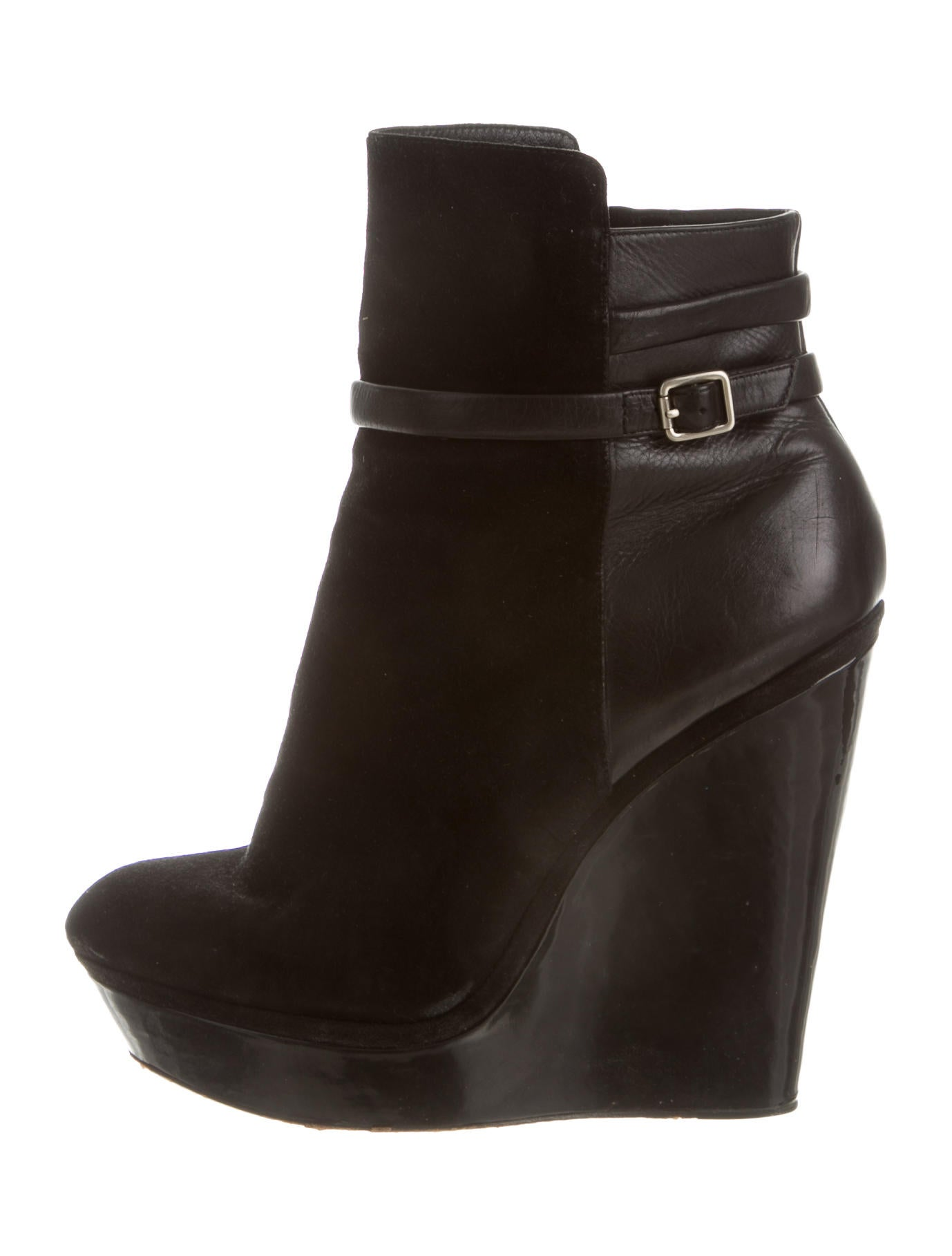brian atwood suede wedge ankle boots shoes bri22951