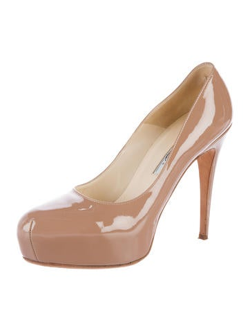 Patent Leather Platform Pumps