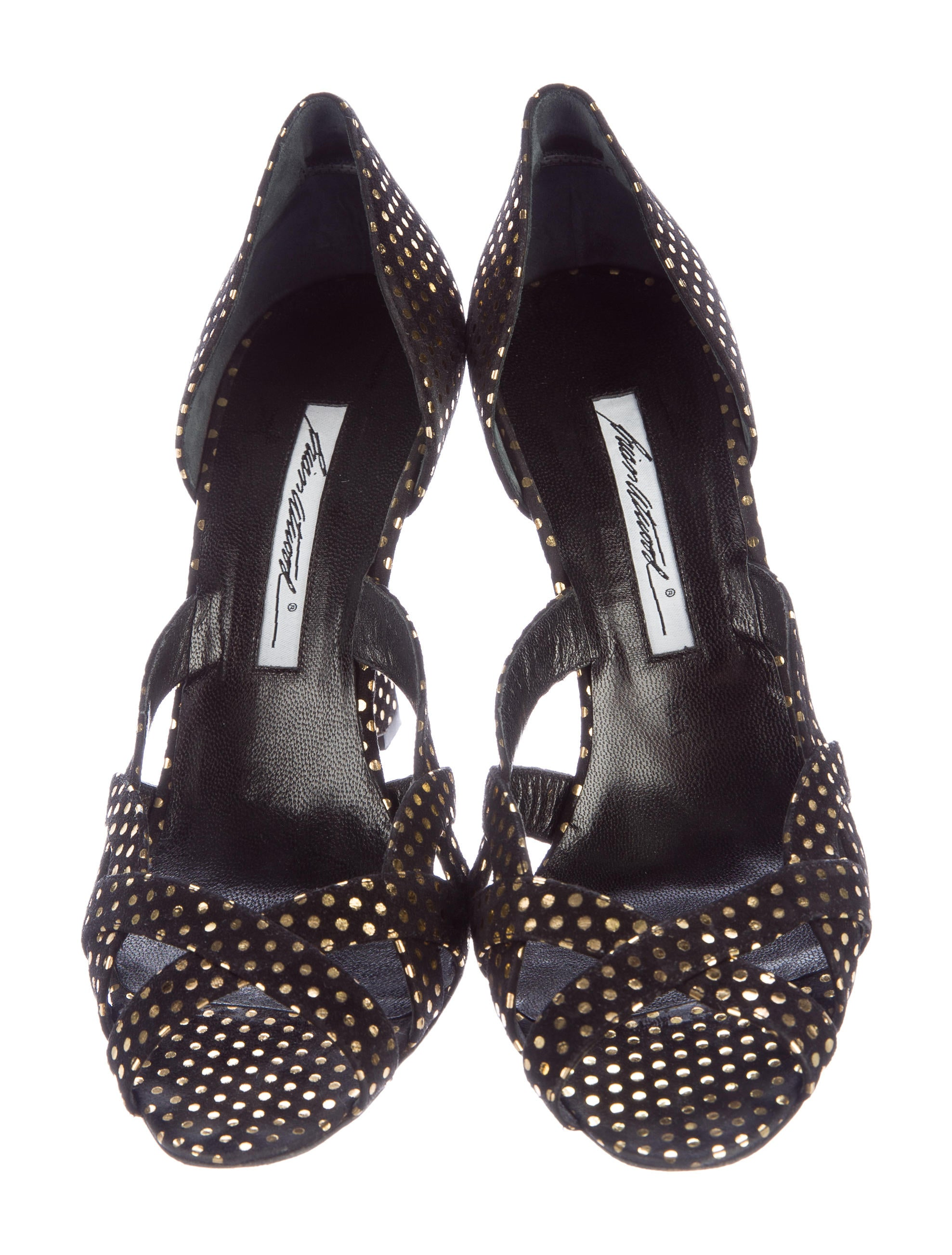 brian atwood polka dot peep toe wedges shoes bri23763