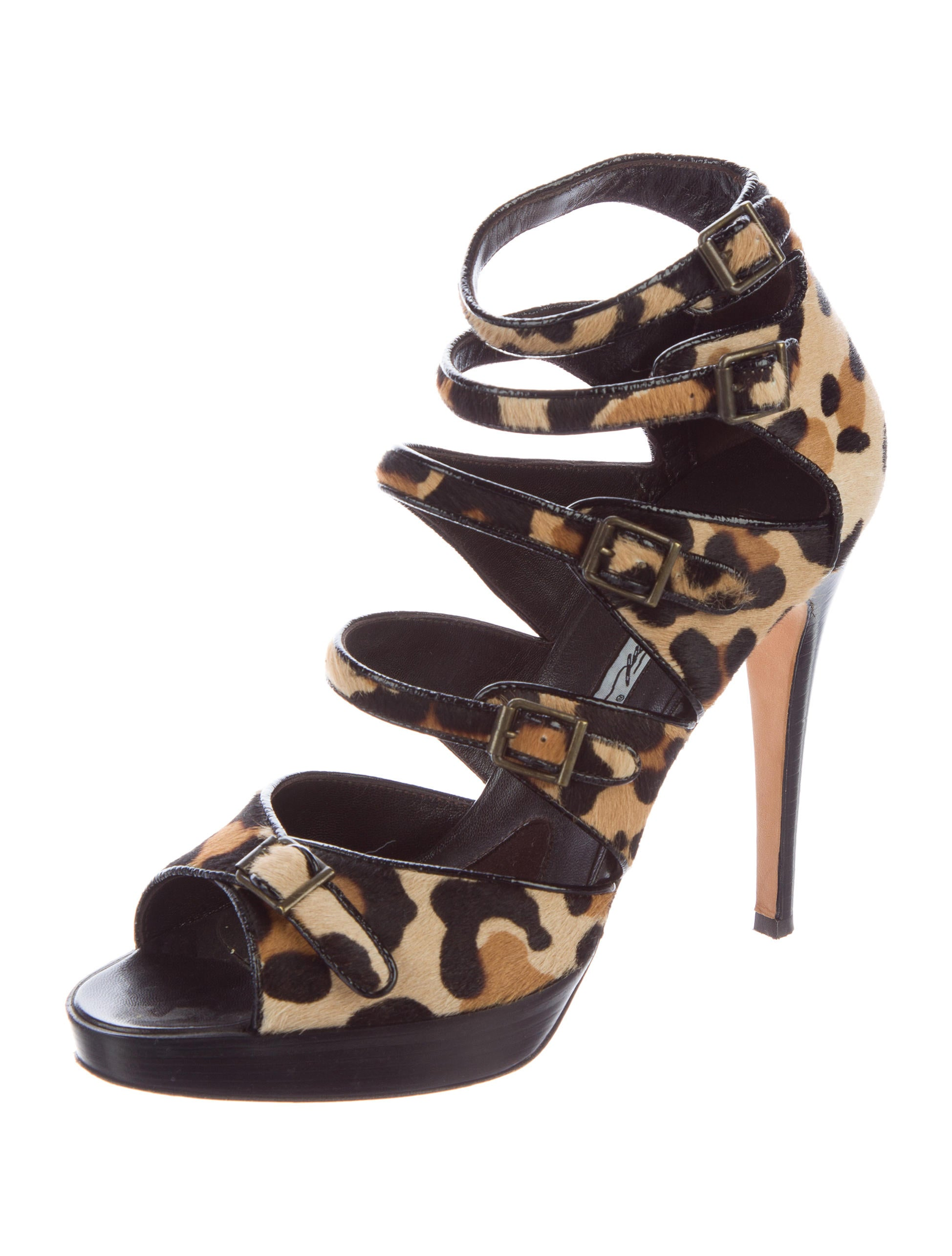 Brian Atwood Ponyhair Caged Sandals discount really cheap for nice outlet excellent fyaYKx