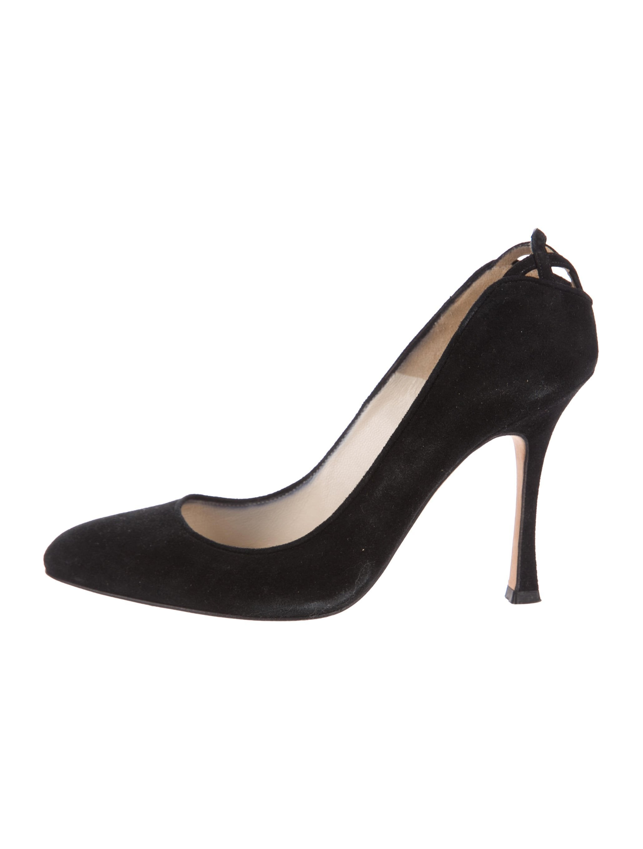 Brian Atwood Suede Cutout Pumps cheap view p0og38b