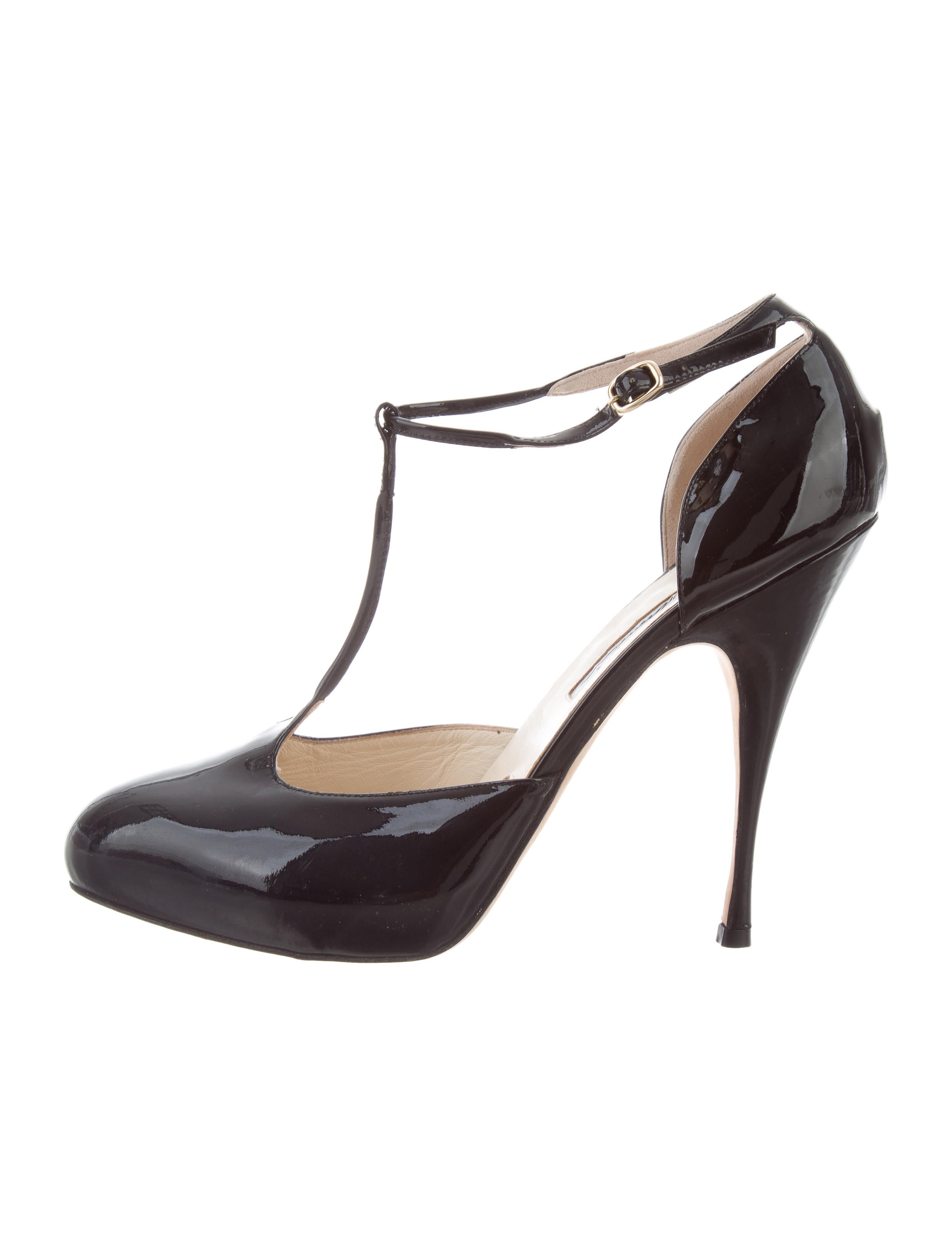 free shipping 100% authentic Brian Atwood Patent Leather T-Strap Pumps clearance pictures sale view VfI989IQ