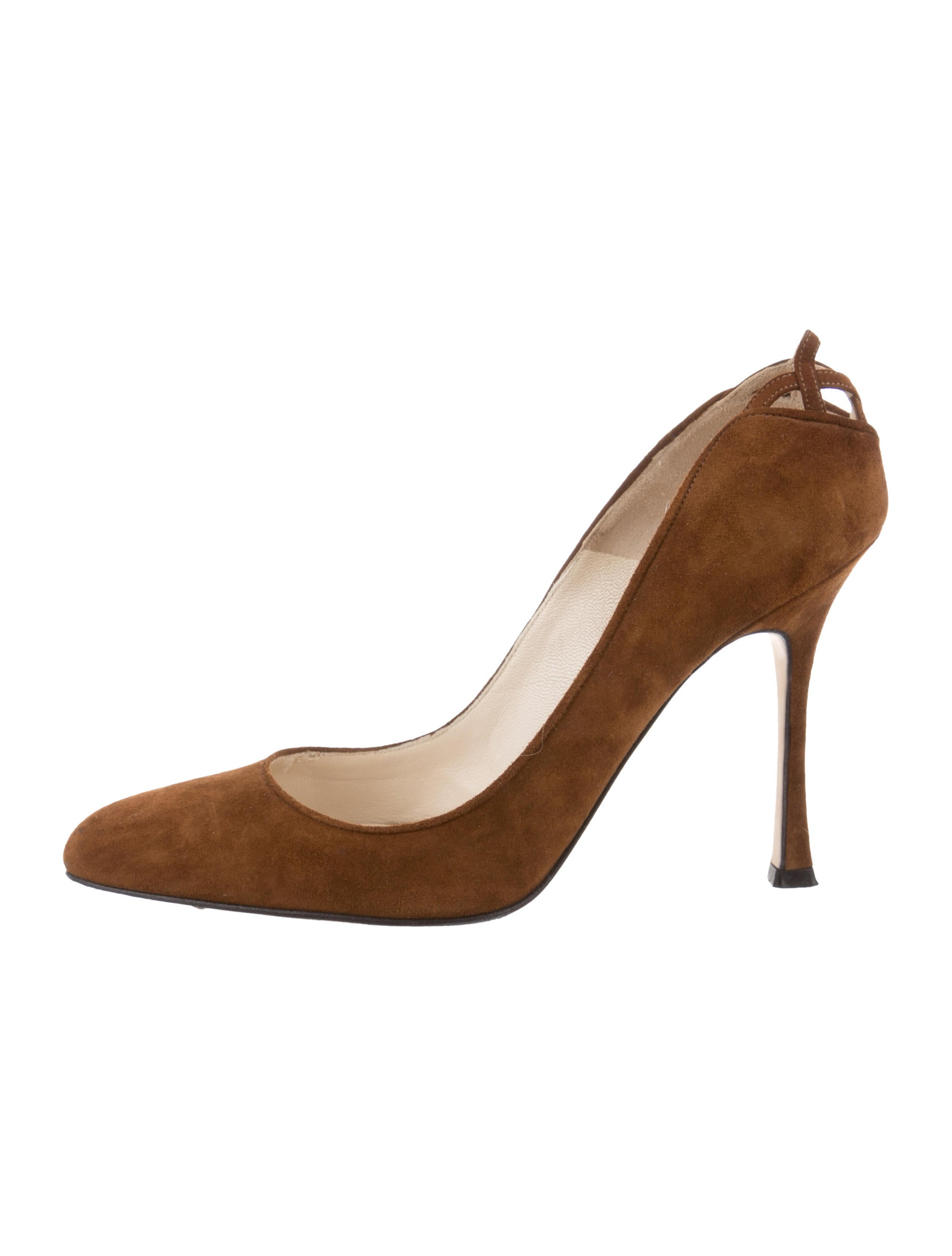 Brian Atwood Suede Semi Pointed-Toe Pumps outlet shop for jhJw2S9