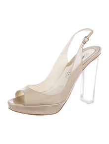 eb898bf90137 Brian Atwood. Patent Leather Slingback Sandals