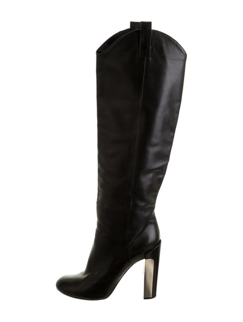 Brian Atwood Knee-High Boots Leather Boots Black