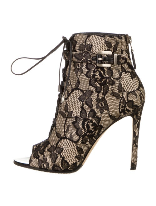 Brian Atwood Lace Pattern Lace-Up Boots