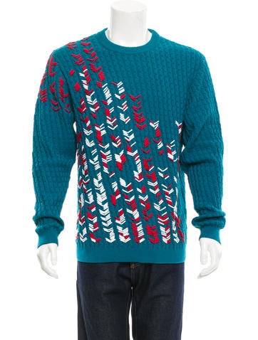Berluti Patterned Crew Neck Sweater None