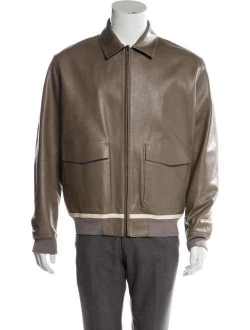 Berluti Leather Flight Jacket w/ Tags