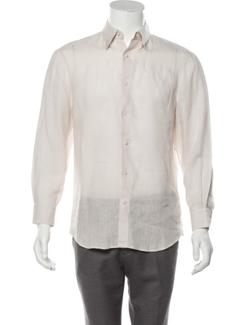 Berluti Linen Dress Shirt tan