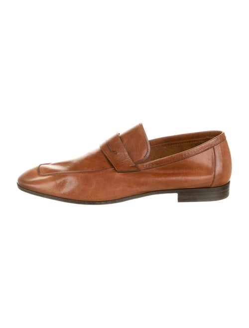 Berluti Leather Dress Loafers Brown
