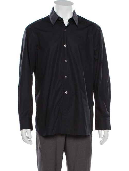 Berluti Long Sleeve Dress Shirt Blue