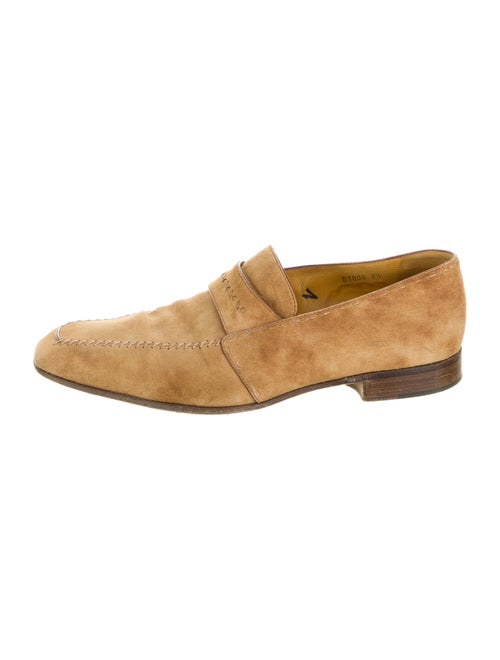 Berluti Suede Dress Loafers Brown