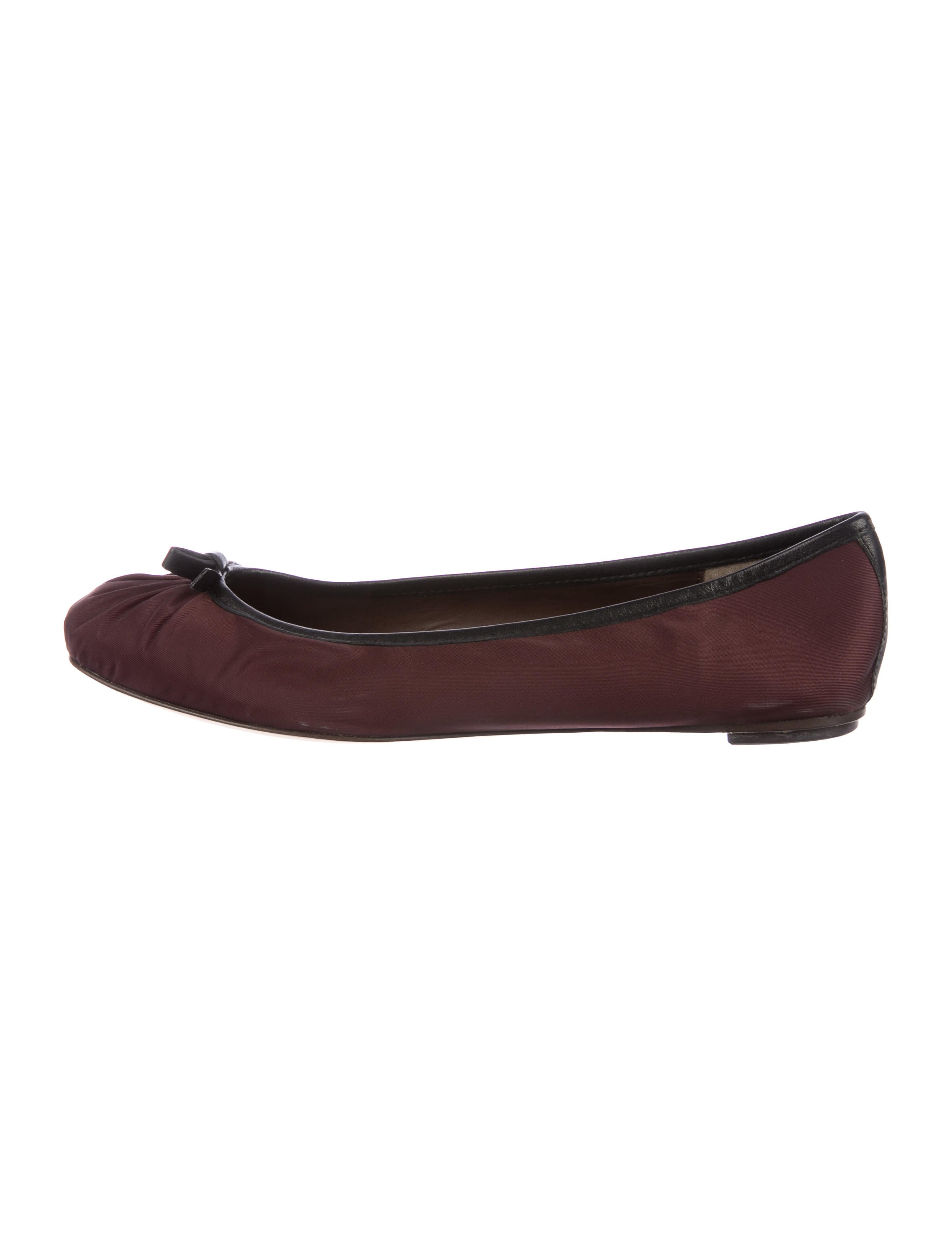 Bruno Magli Satin Square-Toe Flats