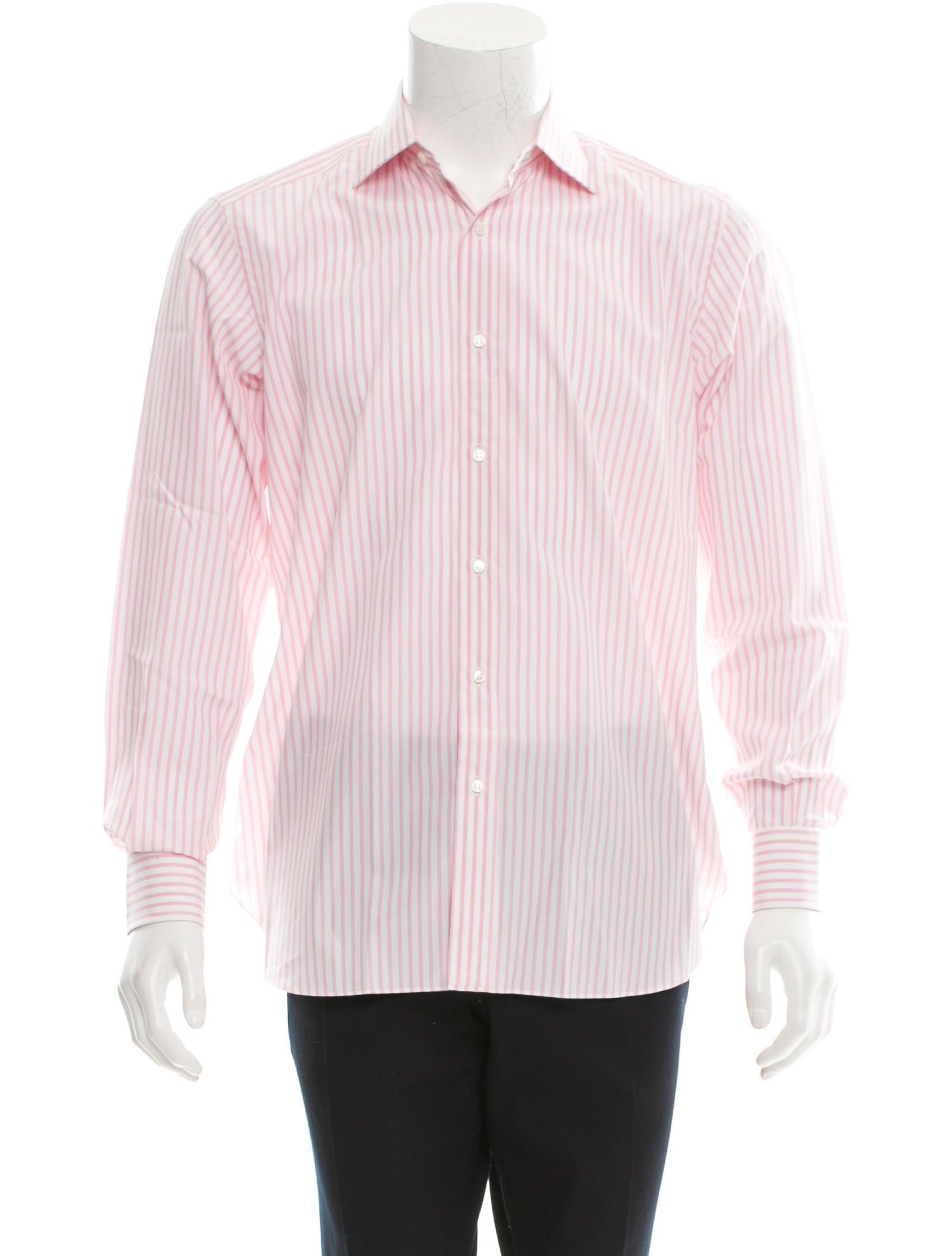 Brioni striped button up shirt clothing bro21187 the for Striped button up shirt mens
