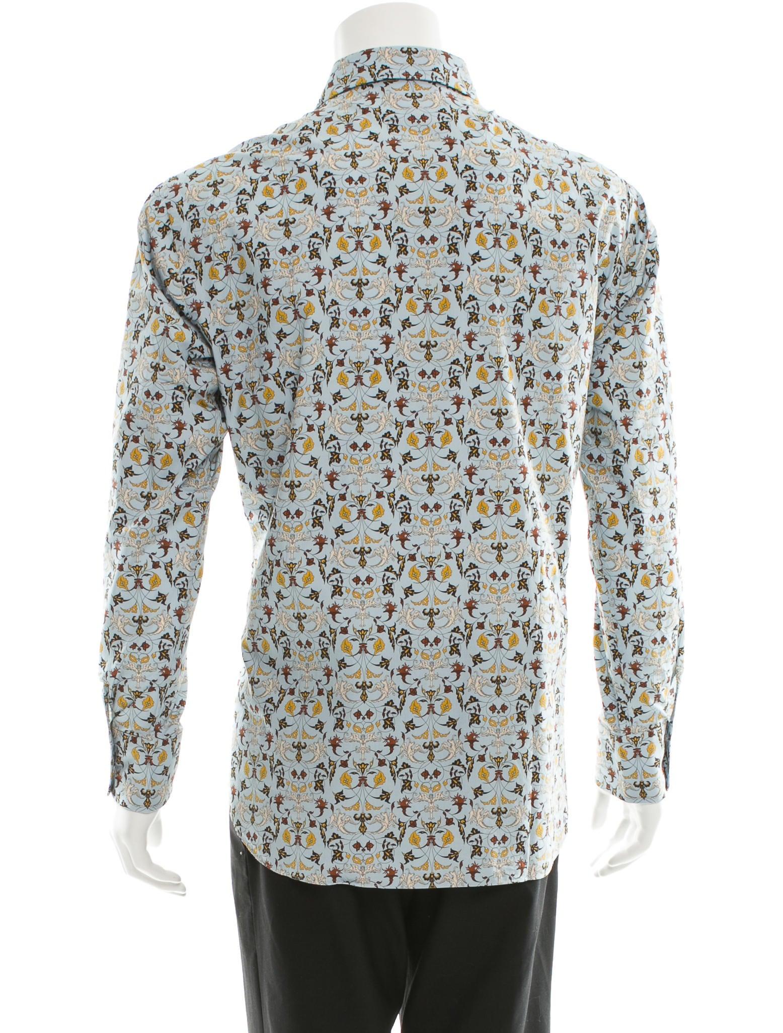 Brioni floral print button up shirt clothing bro21198 for Floral print button up shirt