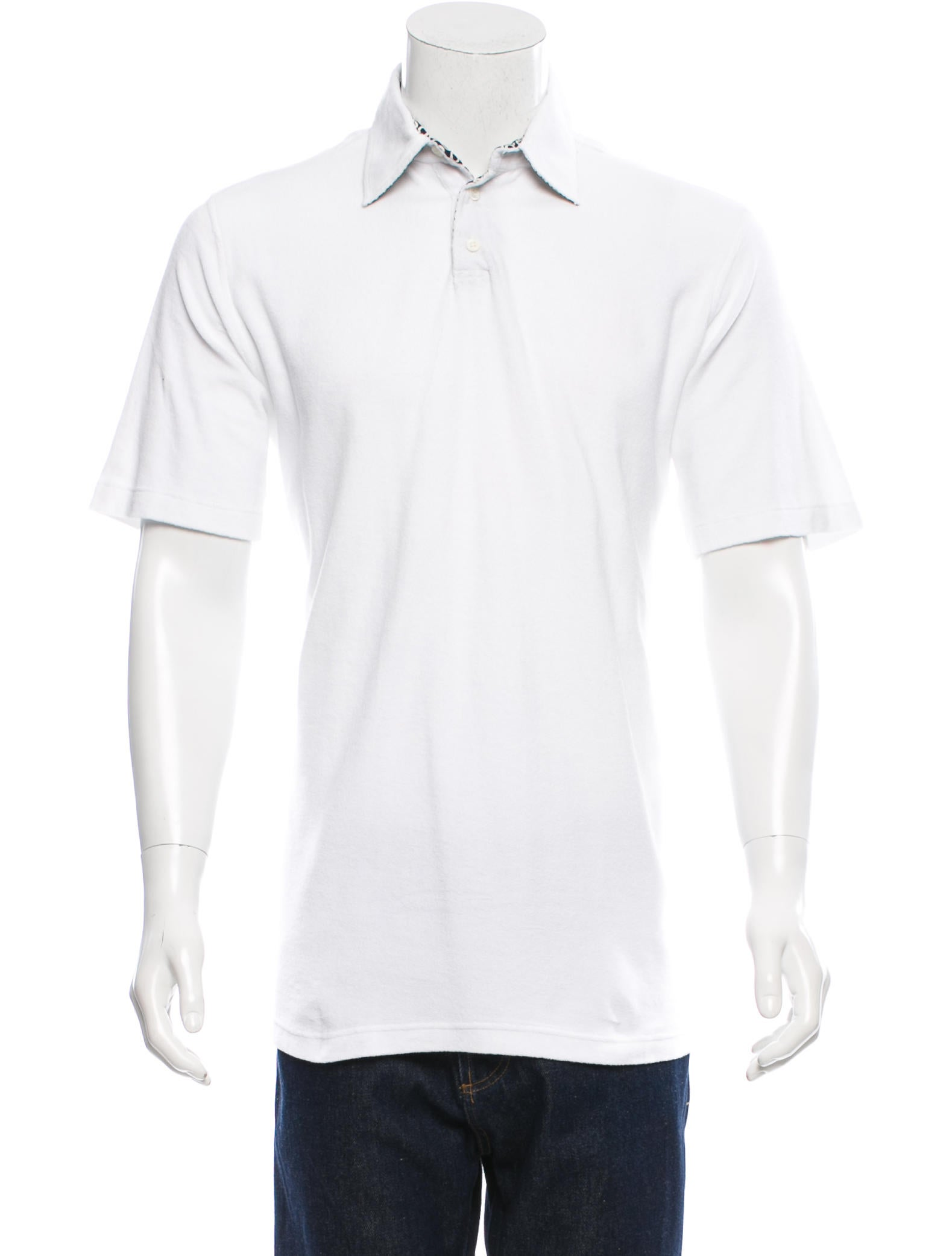 Brioni terry cloth polo shirt clothing bro21217 the for Mens terry cloth polo shirt