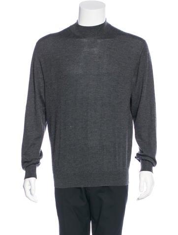 Brioni Cashmere Mock Neck Sweater None