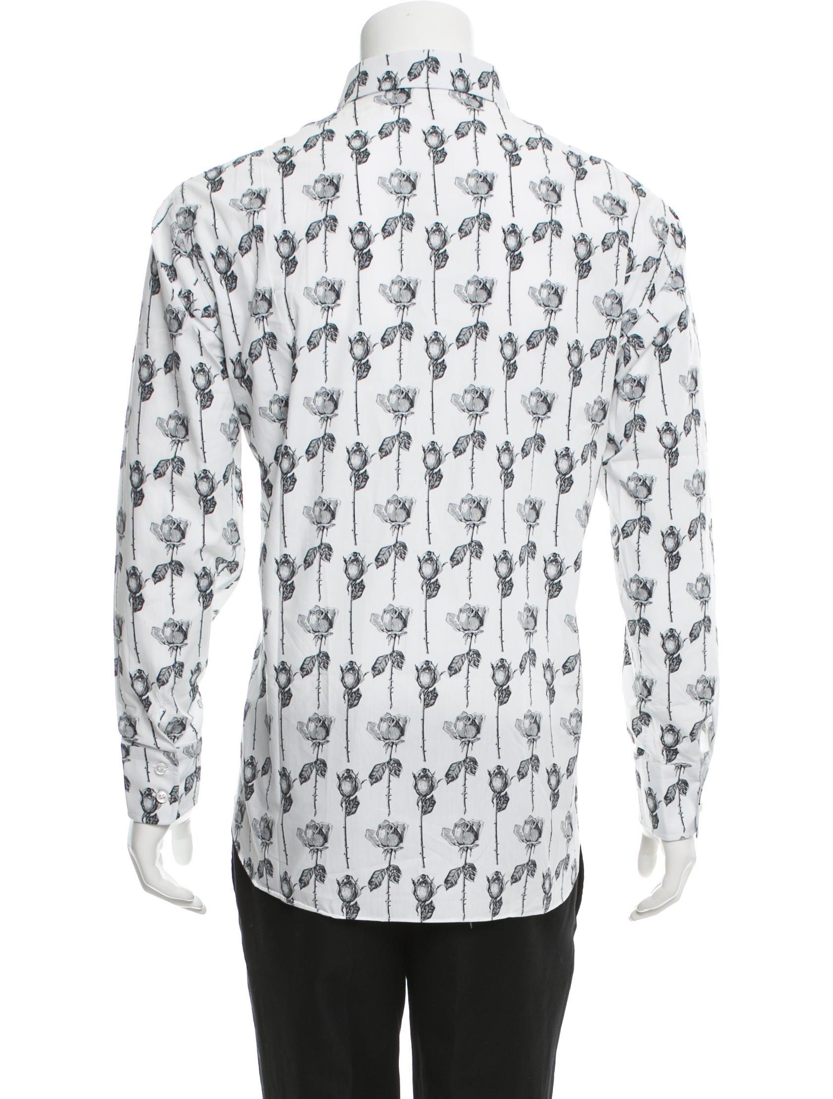 Brioni floral print button up shirt clothing bro21574 for Floral print button up shirt