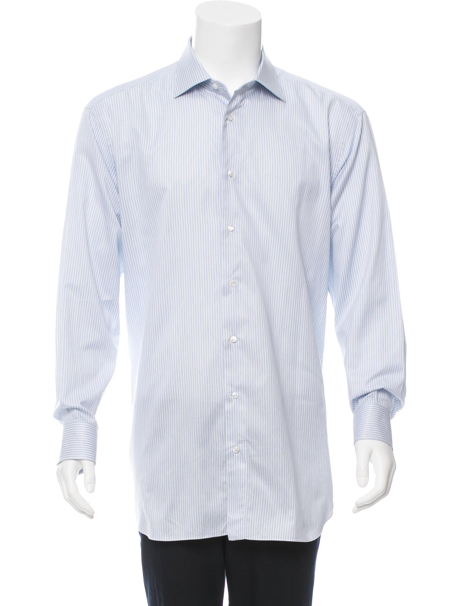 Brioni striped button up shirt clothing bro21662 the for Striped button up shirt mens