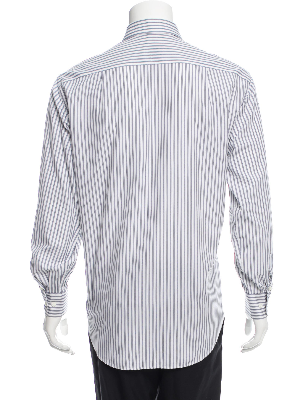 Brioni striped button up shirt clothing bro21664 the for Striped button up shirt mens