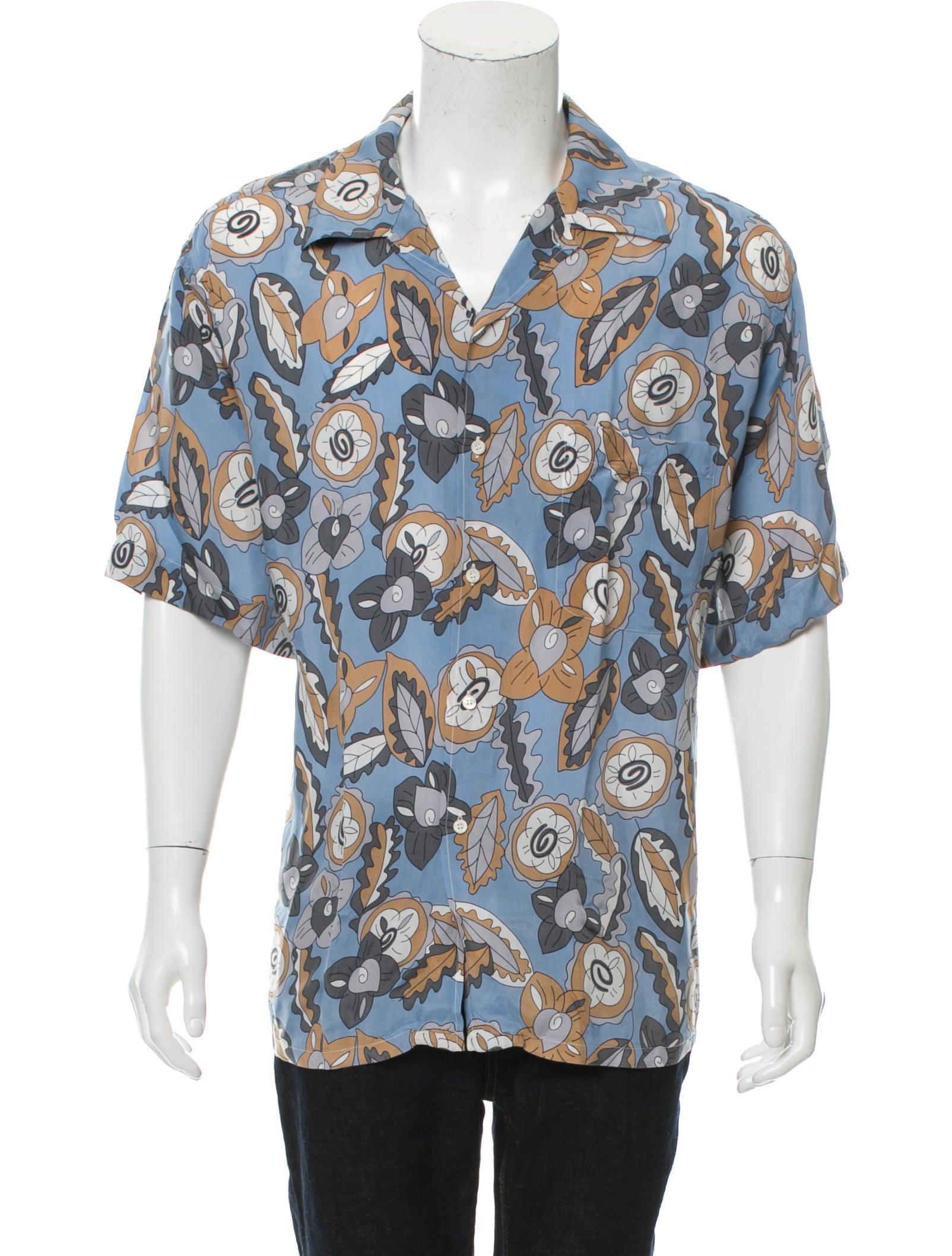 Brioni floral print button up shirt clothing bro21819 for Floral print button up shirt