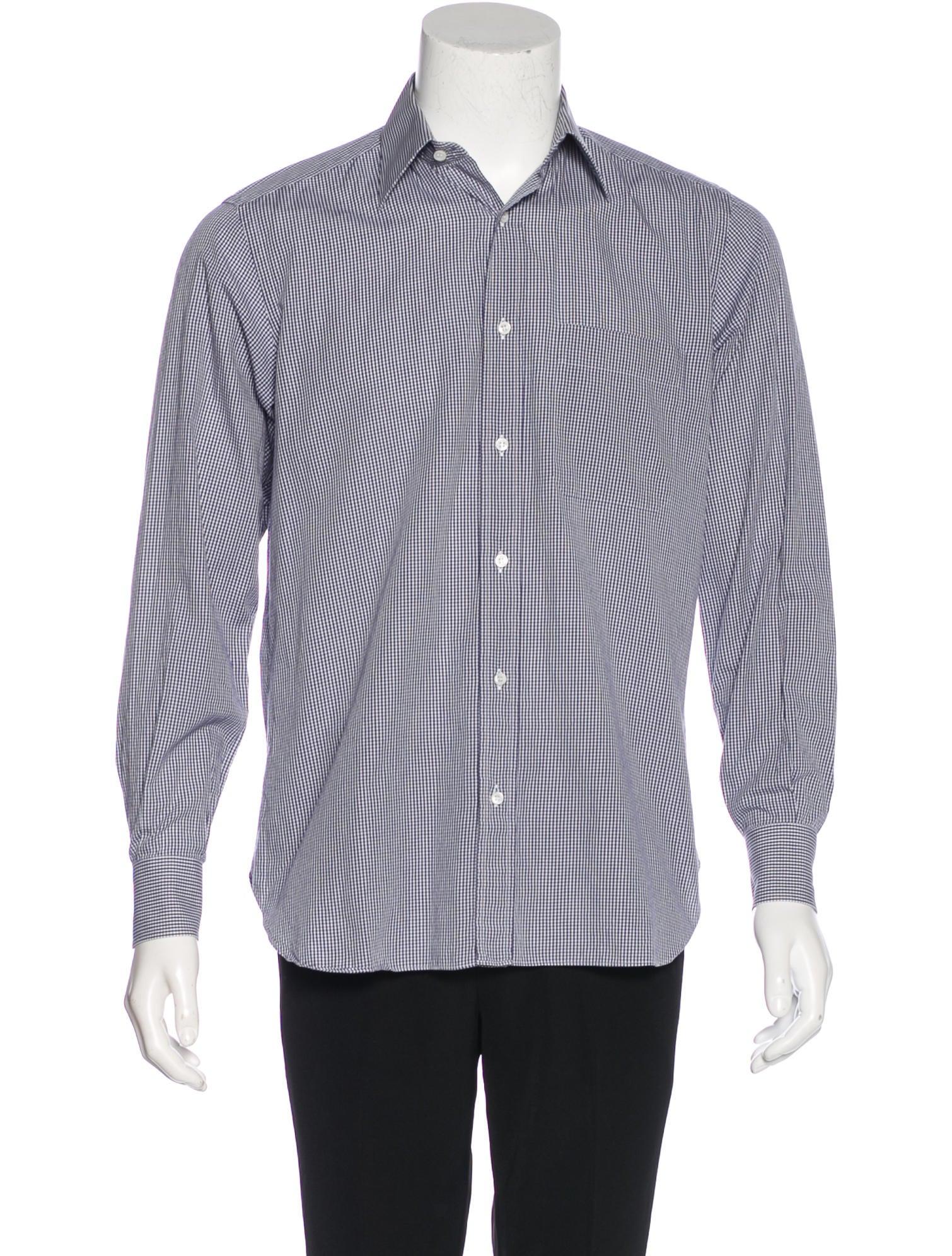 Brioni gingham dress shirt clothing bro21829 the for Men s red gingham dress shirt