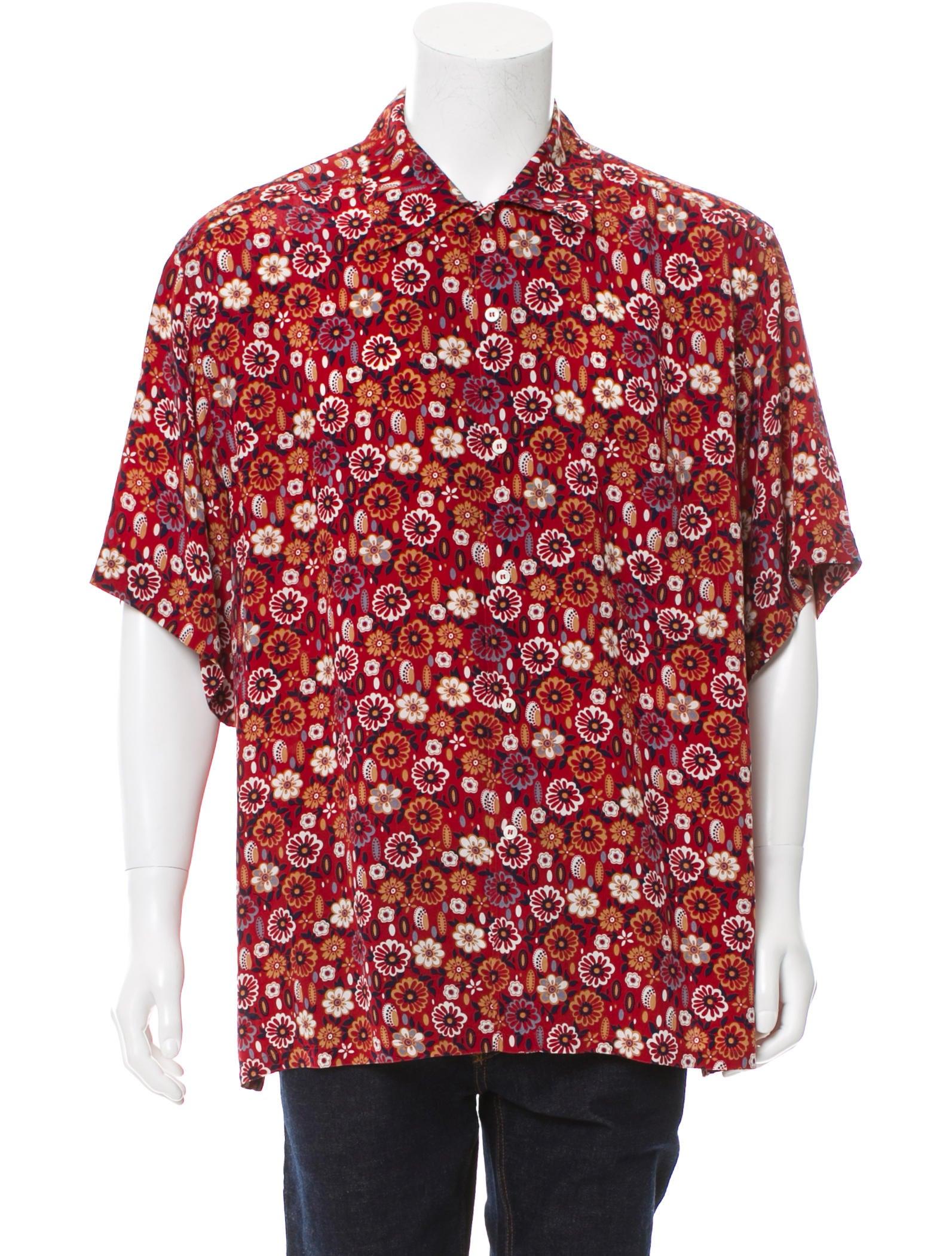 Brioni floral print button up shirt clothing bro21832 for Floral print button up shirt