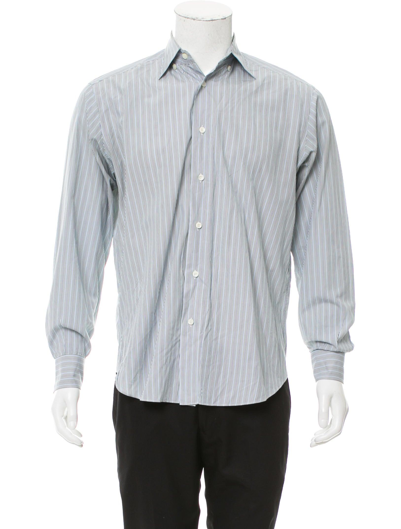 Brioni striped button up shirt clothing bro21912 the for Striped button up shirt mens