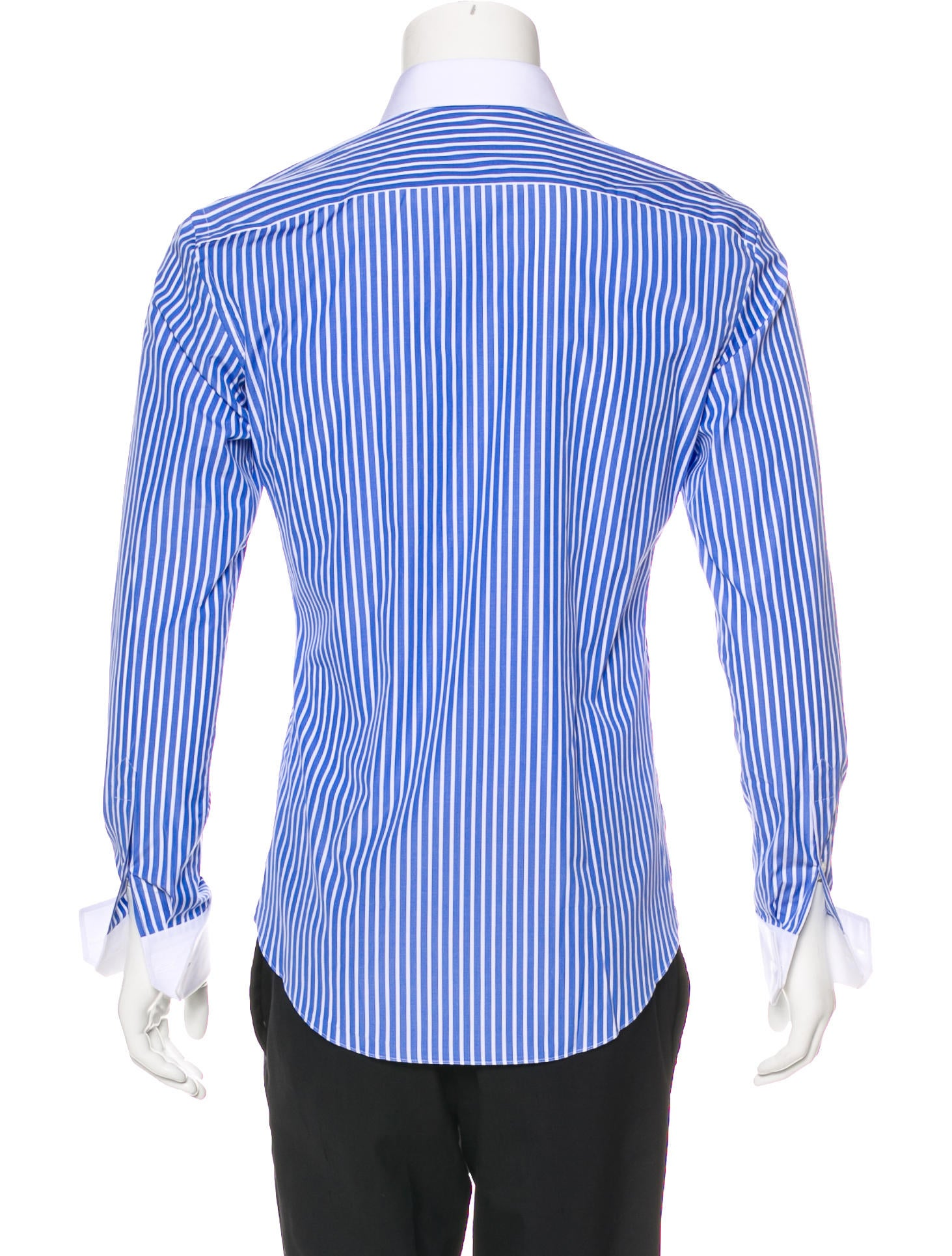 brioni striped french cuff shirt w tags clothing. Black Bedroom Furniture Sets. Home Design Ideas