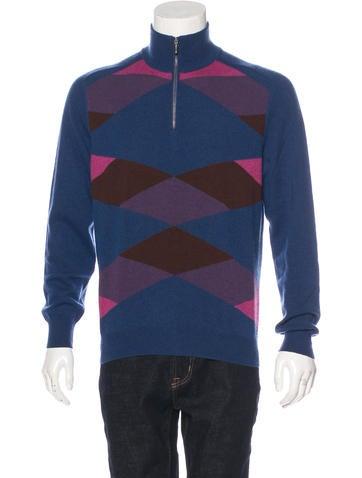Brioni Geometric Cashmere Sweater None