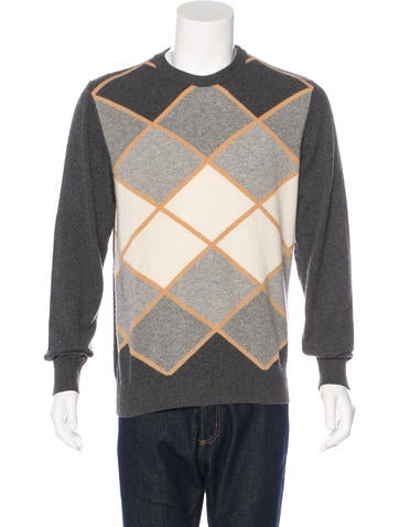 Brioni Cashmere Argyle Sweater None