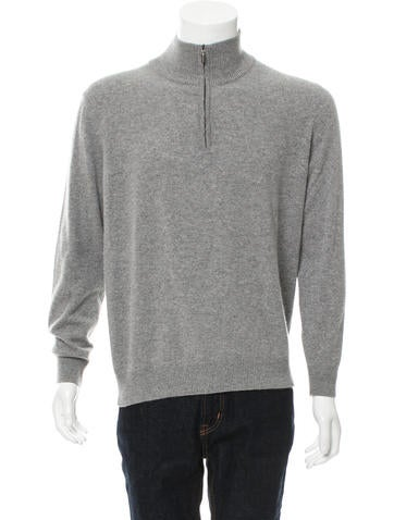 Brioni Cashmere Half-Zip Sweater None