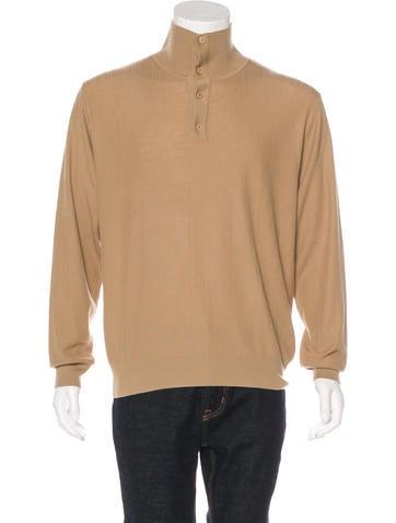 Brioni Wool Mock Neck Sweater None