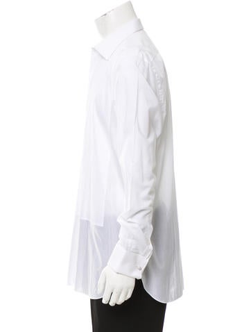 Brioni french cuff tuxedo shirt clothing bro22524 for Tuxedo shirt french cuff