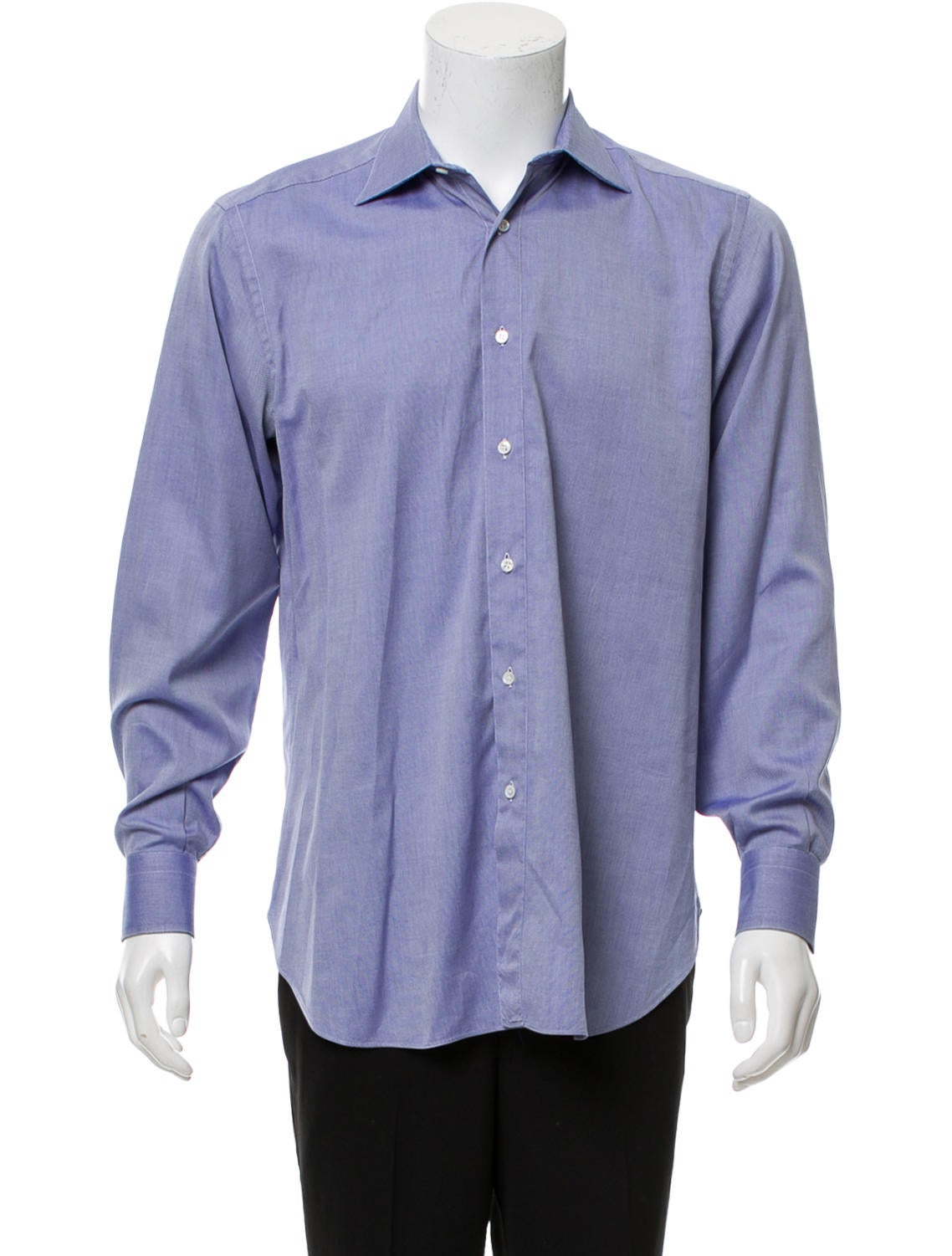 Brioni Woven Button Up Shirt Clothing Bro24561 The Realreal