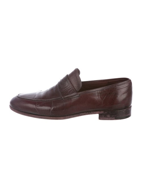 Brioni Leather Penny Loafers