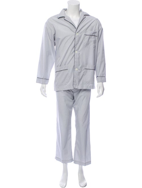 Brioni Two-Piece Pajama Set blue