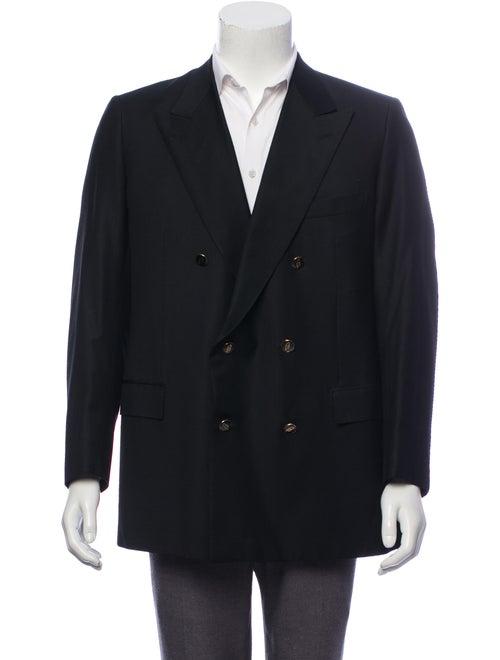 Brioni Wool Double Breasted Blazer black