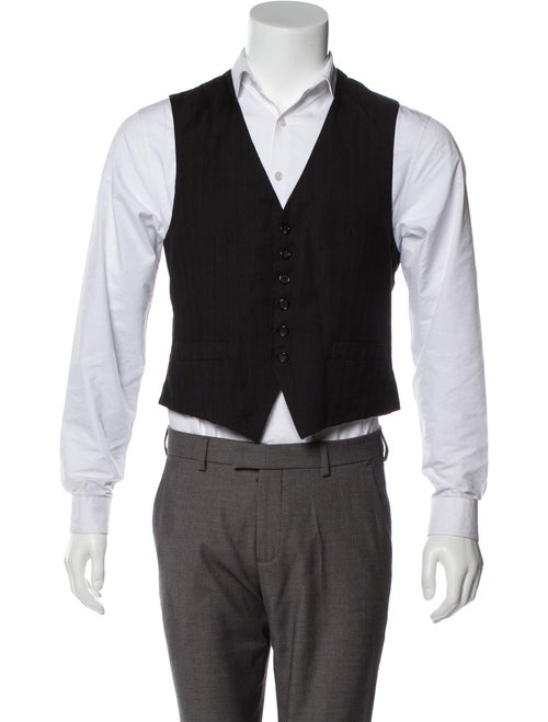 Brioni Virgin Wool Suit Vest black