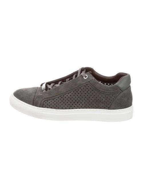 Brioni Suede Low-Top Sneakers grey