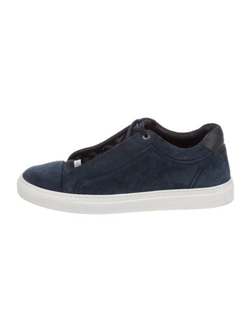 Brioni Suede Low-Top Sneakers navy