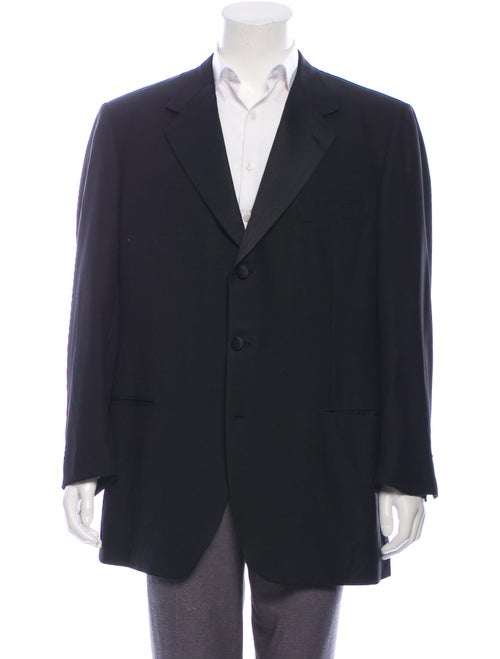 Brioni Wool Tuxedo Jacket black