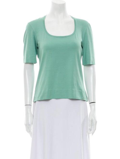Brioni Silk Scoop Neck T-Shirt Green