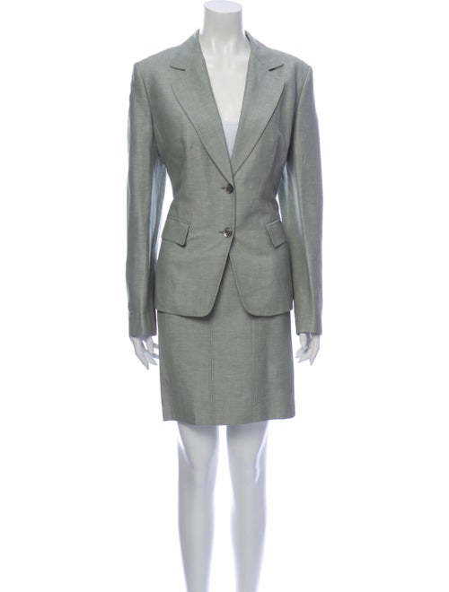 Brioni Skirt Suit Green