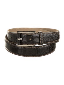 Brioni Alligator Buckle Belt