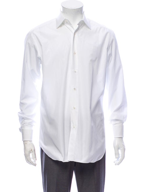 Brioni Long Sleeve Dress Shirt White