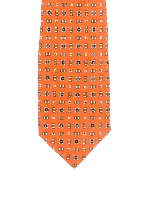 Brioni Silk Printed Tie orange